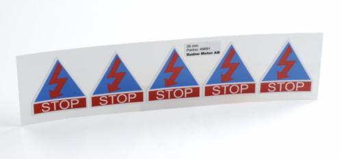 Stoppdekal blixt kit 5 st