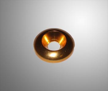 Bricka försänkt alu guld 6x20