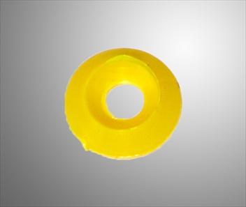Bricka försänkt plast gul 8x30
