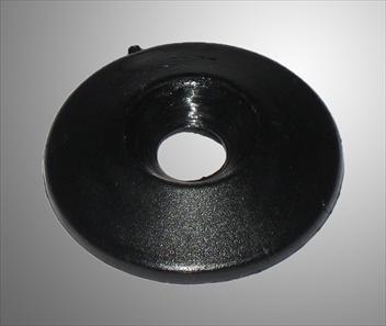 Bricka försänkt plast svart 8x30