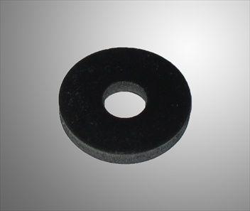Bricka platt gummi, 6x20 mm