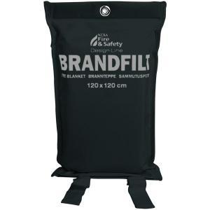 Brandfilt 120x120 svart