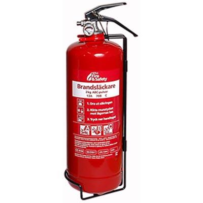 Brandsläckare, 2 Kg  ABC Pulver