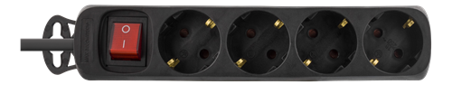 Grenuttag med strömbrytare och 4xCEE 7/4 uttag