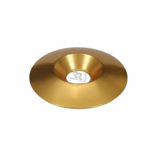 Bricka försänkt alu guld 8x34