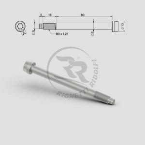 Spindelbult M8 80+18 mm
