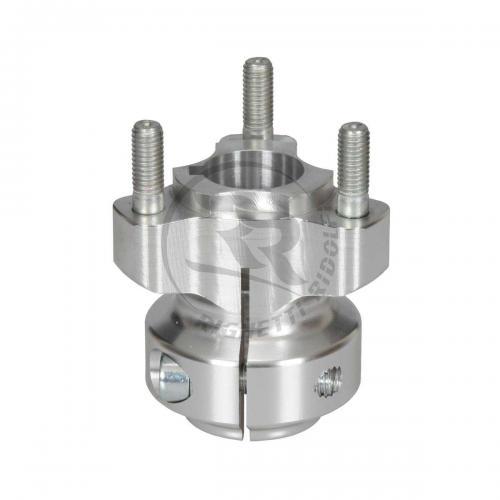 Baknav Ø25x62 mm aluminium