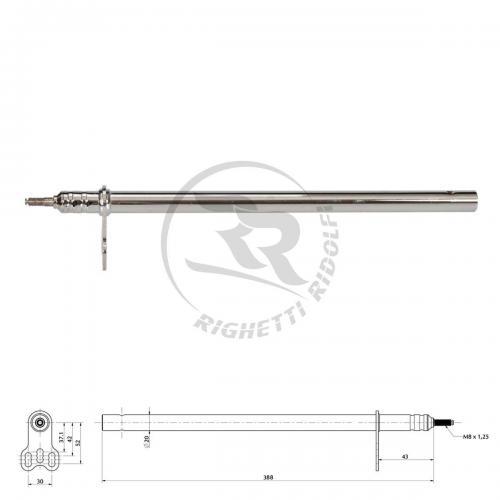Rattstång M8 x 390 mm