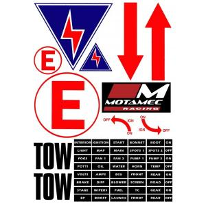 Safety Race & Rally Decal Sheet