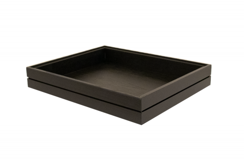 Stackable GN1/2 box Black Lacquer