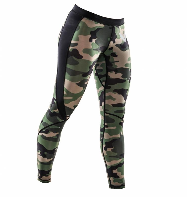 Fitness combat tights - greencamo