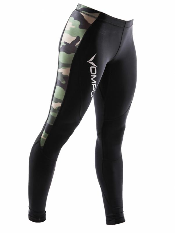 Multisport Kompressionstights greencamo Dam