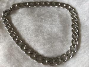 Herrarmband stål, platt länk