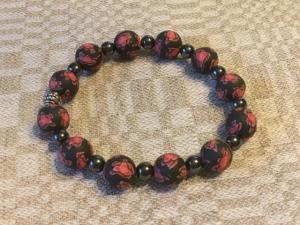 Armband Fimo svart/röd