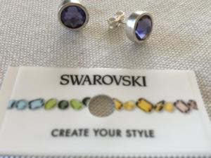 Örhänge Swarowski blå/lila7