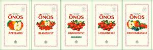 Orkla Sentomat United Etikettark ÖNOS Sylt och Äpplemos