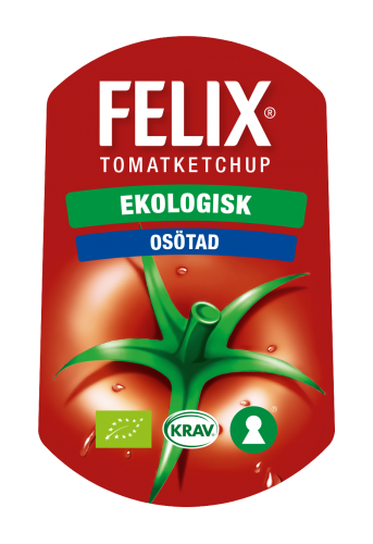 Orkla Sentomat Express Etikett FELIX Ketchup Ekologisk Osötad