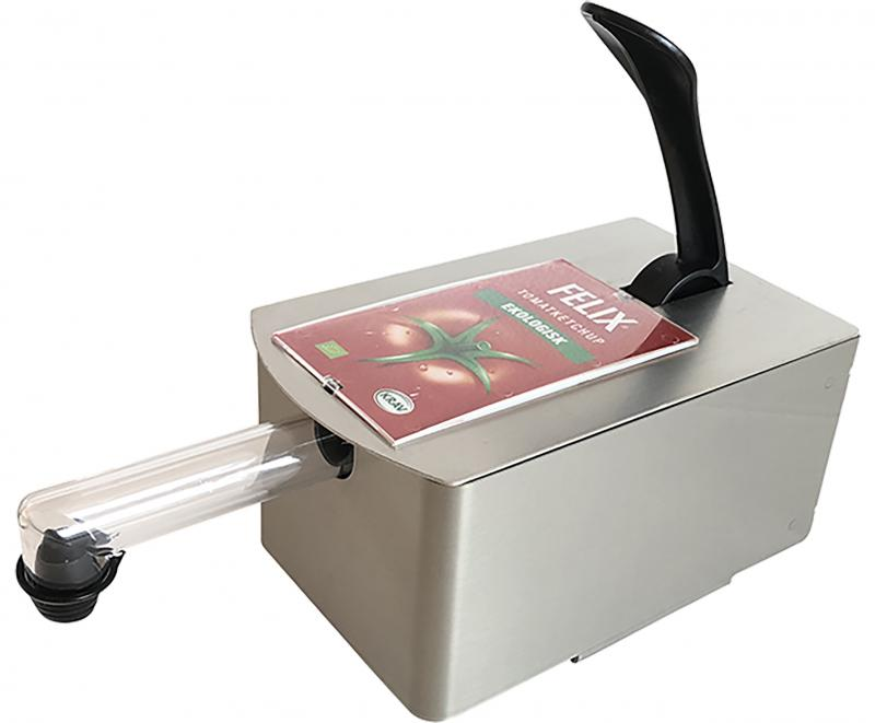Orkla Sentomat Express, Dispenserpaket med etikettskydd, 11,5 mm, för Ketchup, Senap och Dressing