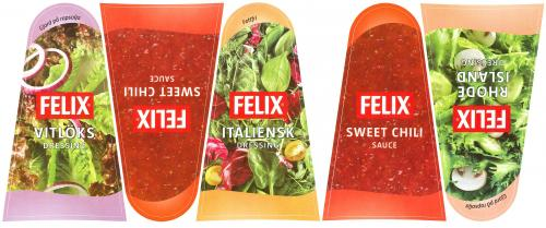 Orkla Sentomat Basic Etikettark FELIX Dressingar
