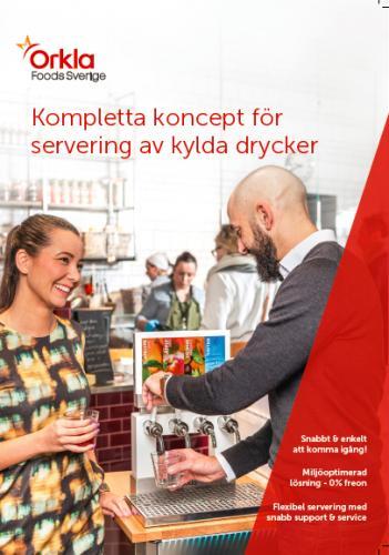 Folder Kompletta koncept för servering av kylda drycker