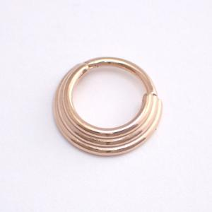 Septum Clicker, 3-ring Rose Gold