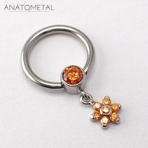 Septum Dangle, Orange 3 mm