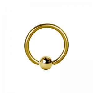 Ball Closure Ring / Captive Bead ring (Bcr) PVD Guld