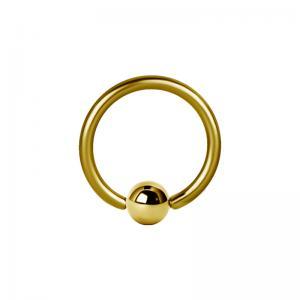 Bcr-ring till piercing - Ball Closure Ring / Captive Bead ring - Guld