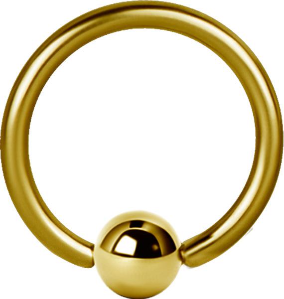 Ball Closure Ring / Captive Bead ring (Bcr) PVD Guld
