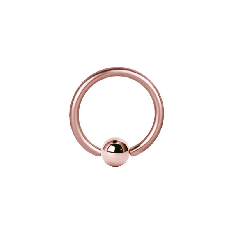Ball Closure Ring / Captive Bead ring (Bcr) PVD Rosé Guld