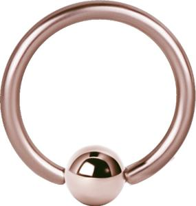 Ball Closure Ring / Captive Bead ring (Bcr) PVD Rosé Guld