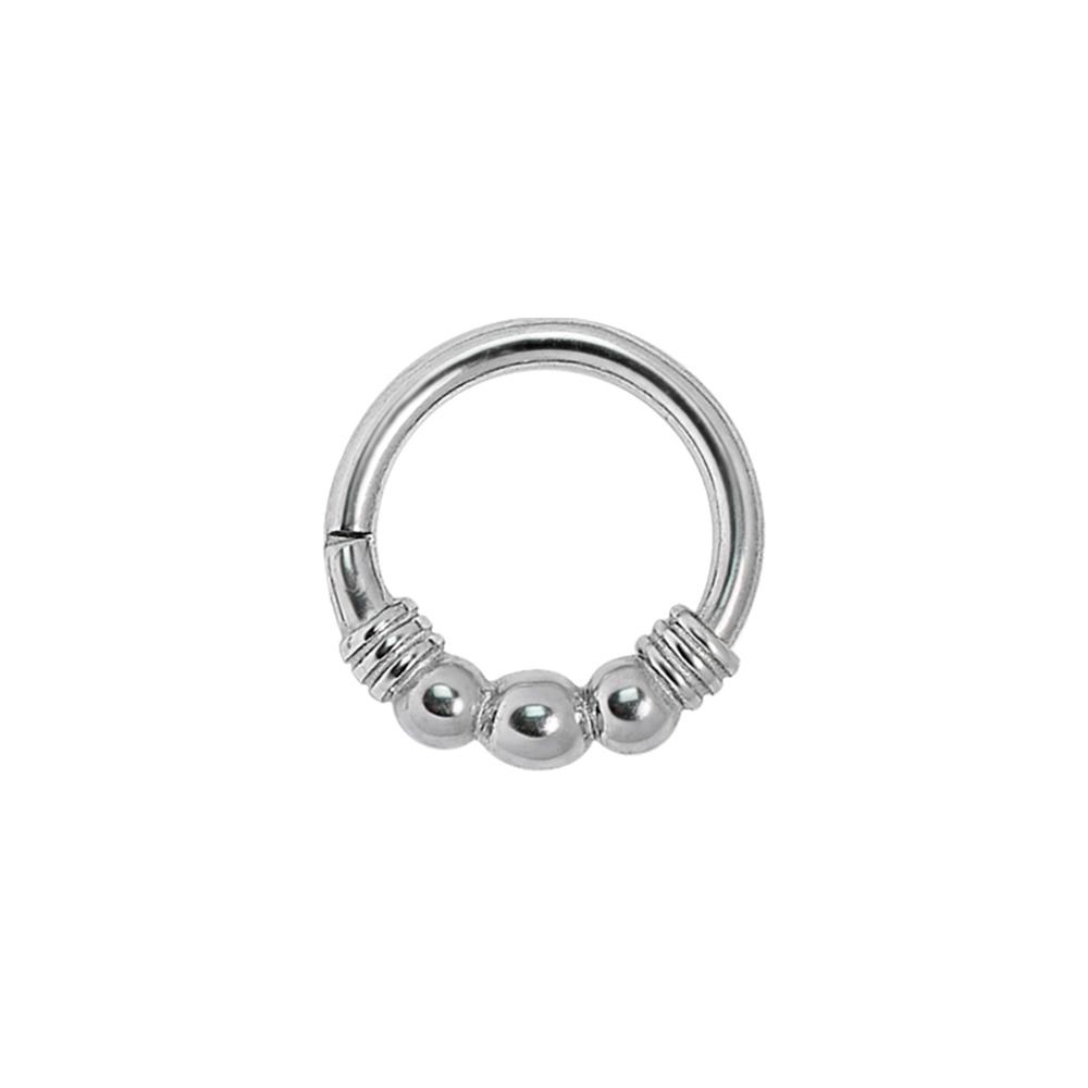 Clicker Ring - Ring till piercing med tre kulor