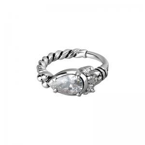 Clicker Ring - med kristall - Cz