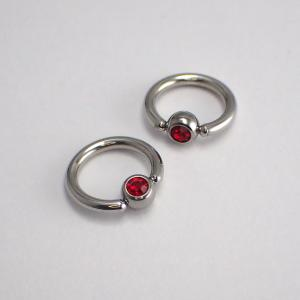 Clip-in Kula - Röd Kristall