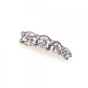 Cluster topp till piercing - Vita kristaller