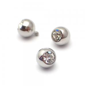 Kula med kristall till piercing