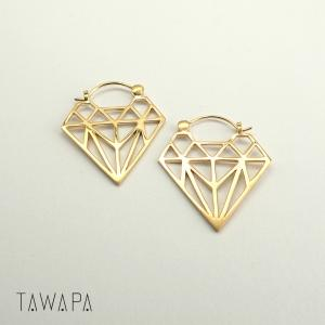 Diamond Silhouette, Mini, Gold plated