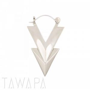 Double Arrow, Silver Plated