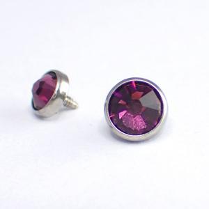 Kristall till piercing - Lila Ametist