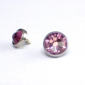 Kristall till piercing - Lavendel