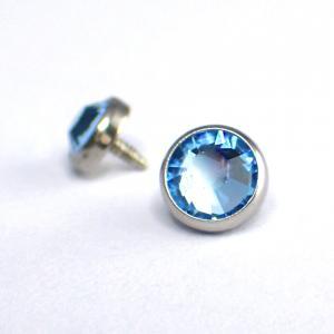 Kristall till piercing - Ljusblå