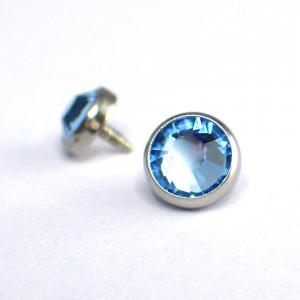 Flat Back kristall, Ljusblå