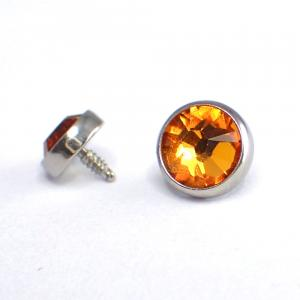 Kristall topp till piercing - Orange