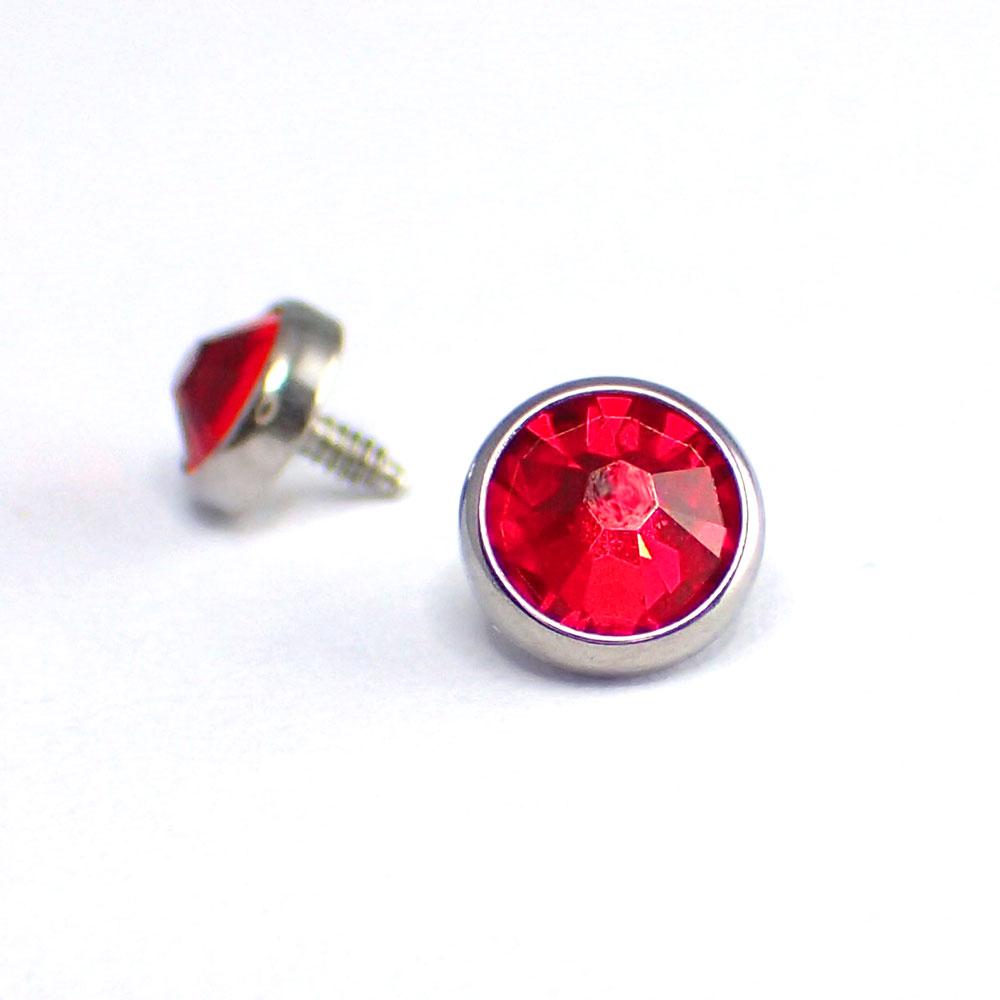 Flat Back kristall - Röd