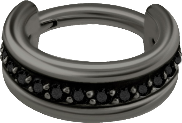 Clicker Ring, Black Steel
