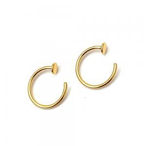 Hoops - Ear Huggies - Guld Pvd kirurgiskt stål