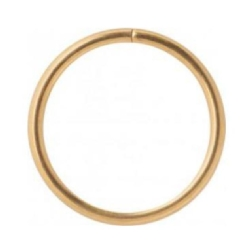 Tunn seamless ring, golden steel