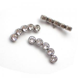Cluster - Piercingsmycke - Vita Swarovski kristaller