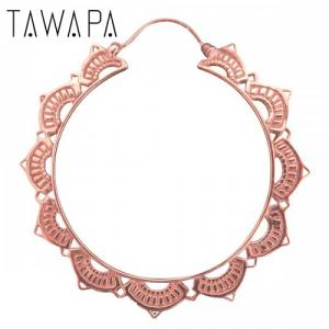 Lotus Hoop, Rose Gold Plated