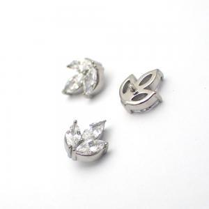 Lotus topp - Piercingsmycke - Vita Swarovski kristaller